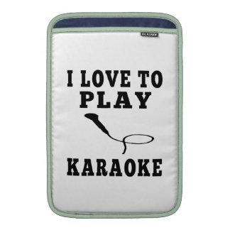 I Love To Play Karaoke MacBook Air Sleeves