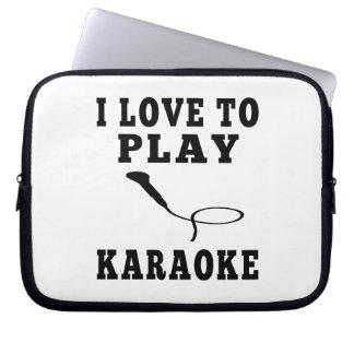 I Love To Play Karaoke Computer Sleeves