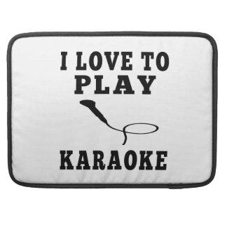 I Love To Play Karaoke Sleeve For MacBooks