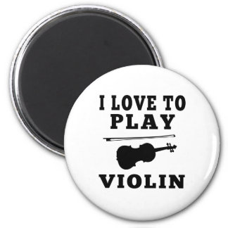 I Love To Play Violin Refrigerator Magnets