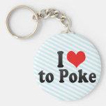 I Love to Poke Basic Round Button Keychain