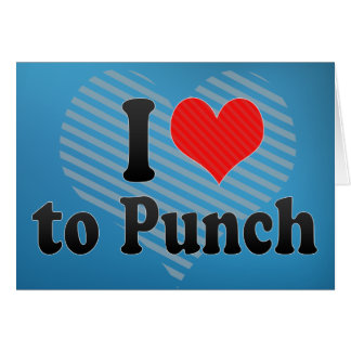 I Love to Punch Card
