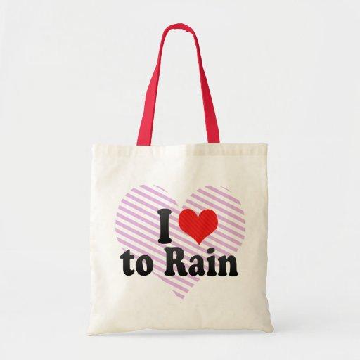I Love to Rain Bag