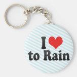 I Love to Rain Key Chain