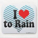 I Love to Rain Mouse Pad