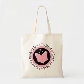 I Love To Read Book Lover Tote Bag