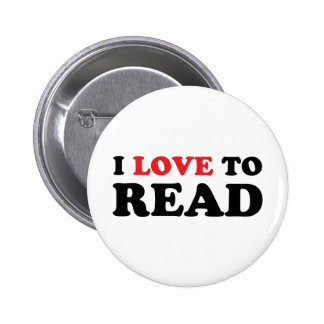 I Love To Read Pinback Button