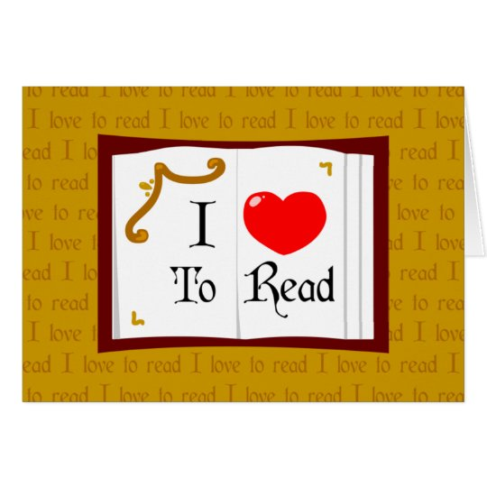 I Love To Read Card