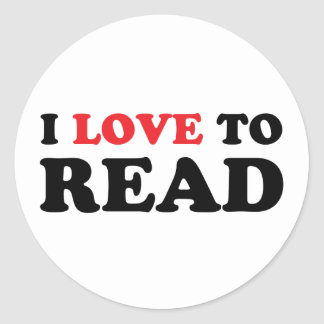 I Love To Read Classic Round Sticker