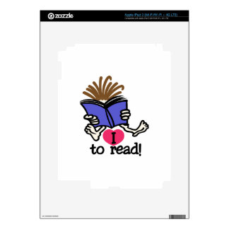 I Love to Read Decals For iPad 3