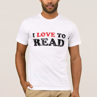 I Love To Read Distressed Basic Am. Ap. T-Shirt