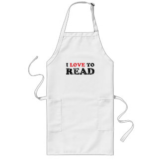 I Love To Read Distressed Long Apron