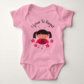I Love To Read Girl Baby Bodysuit