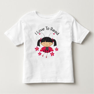 I Love To Read Girl Toddler T-shirt