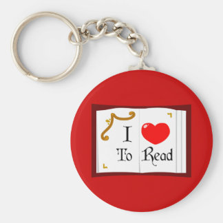 I Love To Read Keychain