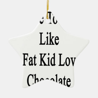 I Love To Read Like A Fat Kid Loves Chocolate Ceramic Ornament