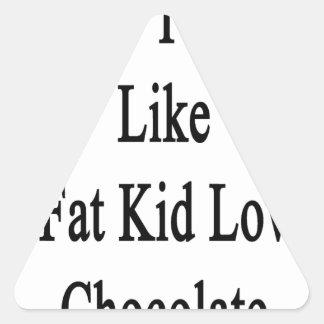 I Love To Read Like A Fat Kid Loves Chocolate Triangle Sticker