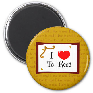 I Love To Read Fridge Magnet
