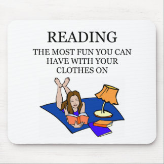 i love to read mouse pad