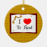 I Love To Read Ornaments