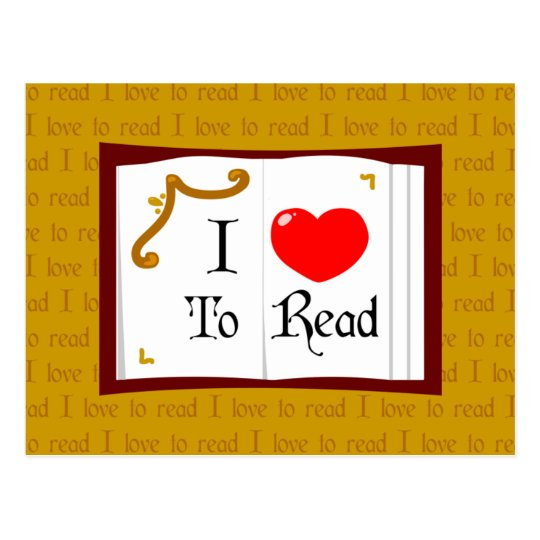 I Love To Read Postcard