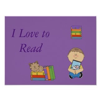 I love to Read poster