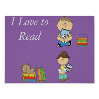 I love to Read poster II
