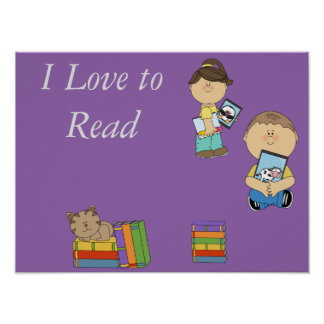 I love to Read poster III