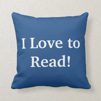 I LOVE TO READ! THROW PILLOW