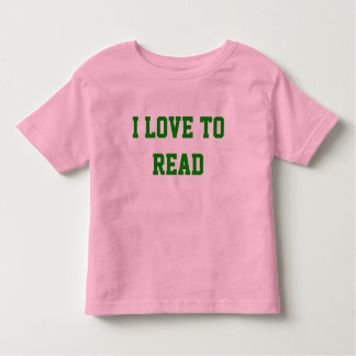 I Love To Read Toddler T-shirt