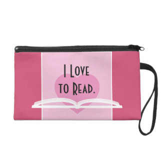 I LOVE TO READ TOTE with Jane Austen Quote Wristlet Purse
