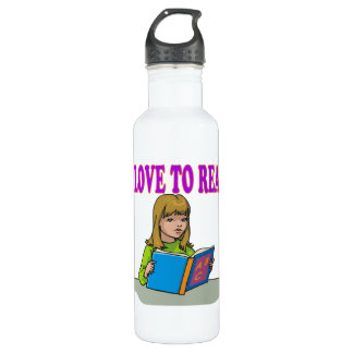 I Love To Read Water Bottle