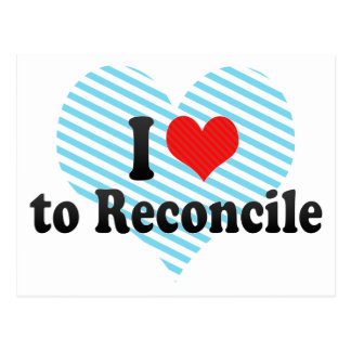 I Love to Reconcile Postcard