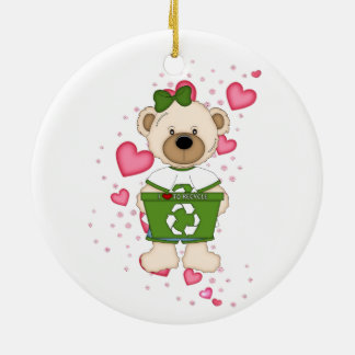 I Love to Recycle Ceramic Ornament