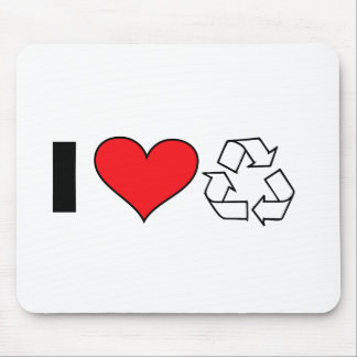 I love to recycle mouse pad