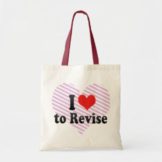 I Love to Revise Canvas Bag