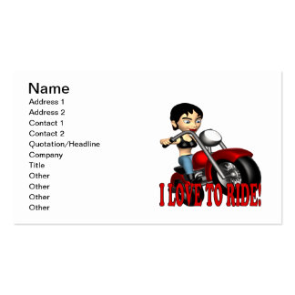 I Love To Ride 2 Business Card Templates