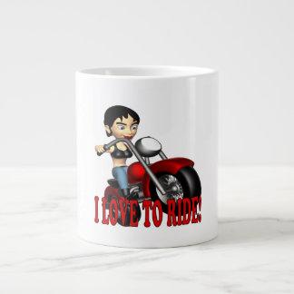 I Love To Ride 2 Giant Coffee Mug