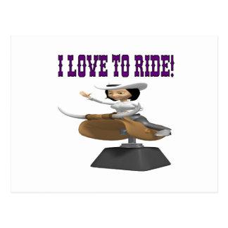 I Love To Ride 2 Postcard