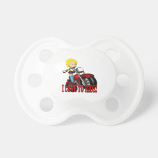 I Love To Ride 3 Baby Pacifier