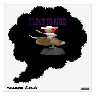 I Love To Ride 3 Room Sticker