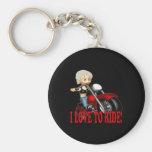 I Love To Ride 4 Keychain