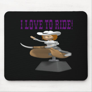 I Love To Ride 4 Mouse Pad
