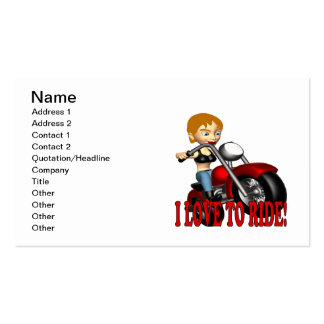 I Love To Ride 5 Business Cards