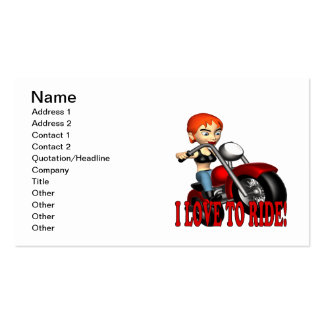 I Love To Ride Business Card Template