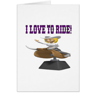 I Love To Ride Card