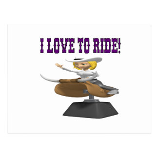 I Love To Ride Postcard