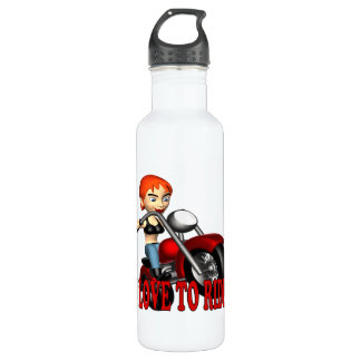 I Love To Ride Stainless Steel Water Bottle