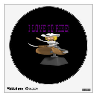 I Love To Ride Wall Decal