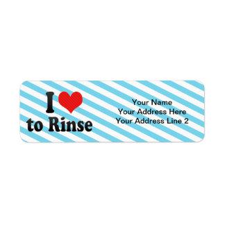 I Love to Rinse Custom Return Address Label